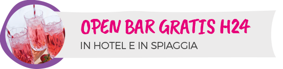 Hotel Cesenatico 4 stelle Open Bar